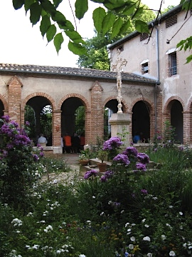 Central courtyard of the Carmel Monastery