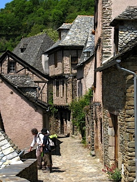 Jacques and Christophe arrive in Conques