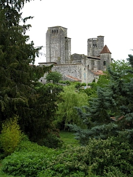 The 14th century collegial church at La Romieu