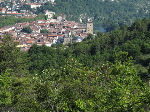 View of Cahors from the Way