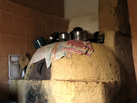 A great pizza oven in the albergue in Ledigos