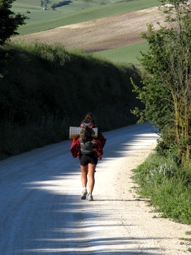 A pilgrim on the way to Burgos