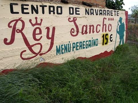 Advert for a restaurant in Navarrete