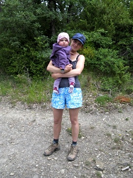 Anna and baby Penelope near Zubiri just before the storm