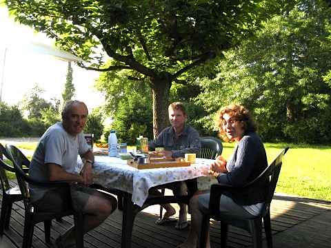 Breakfast with Francoise and Hubert at their home