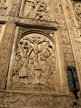 Cathedral door detail in Leon