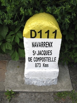 Distance marker in Navarrenx