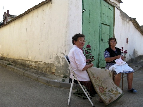 Local ladies enjoy a chat in the evening warmth