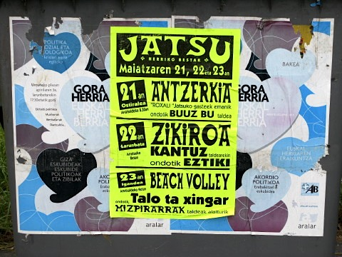Notice for music concerts in the Basque language