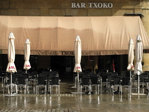 One of the cafes in the centre of Pamplona