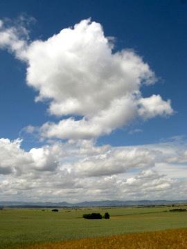 Open wheatlands approaching Castille y Leon