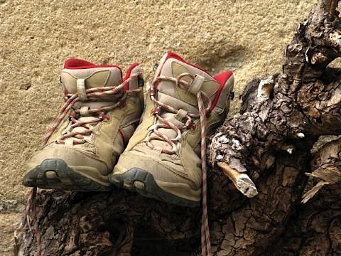 Pilgrim boots left outside to dry