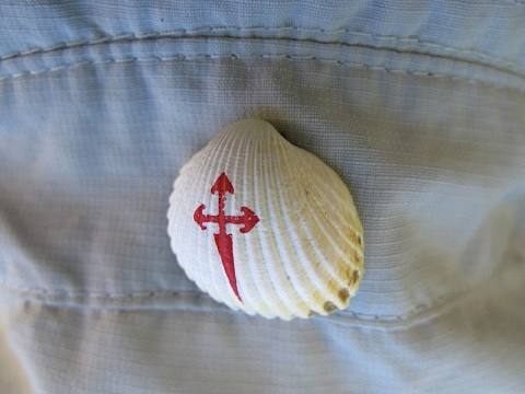 Saint Jacques scallop shell on the new hat