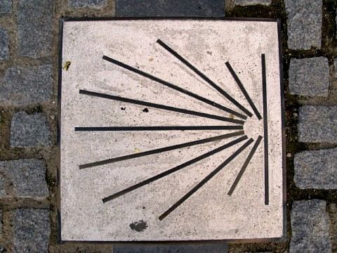 Scallop marking the Camino de Santiago