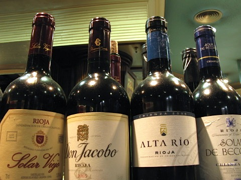 Some fine Riojas were on offer