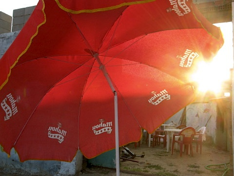 Sunset at the bar in Reliegos