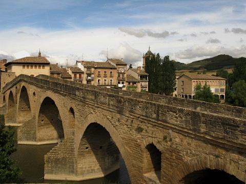 The 11th Century bridge in Puente la Reina