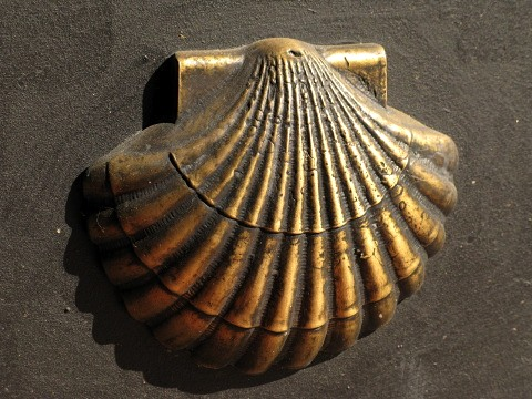 The Saint James Scallop Shell is everywhere