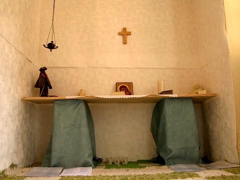 The alchemist had created his own chapel on the top floor