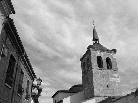 The church in Puente de Villarente