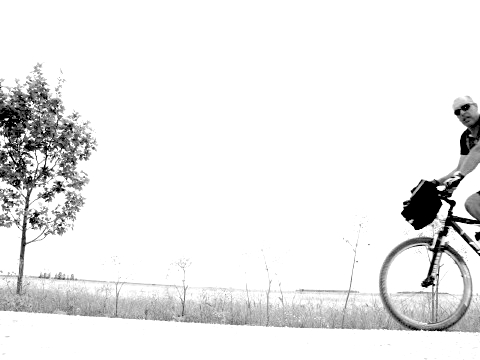 The cyclist was overexposed