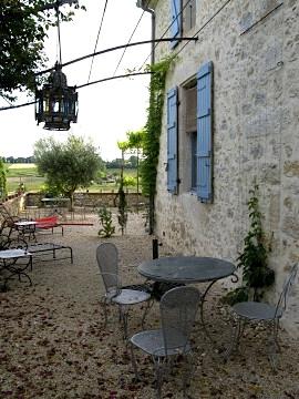 The relaxing gardens of the gite