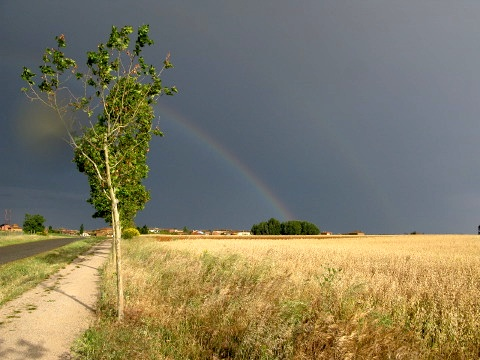 The storm and the light - the pot of gold is just on the left