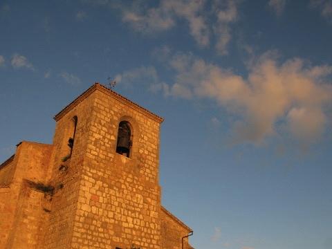 The sun sets on the Atapuerca church