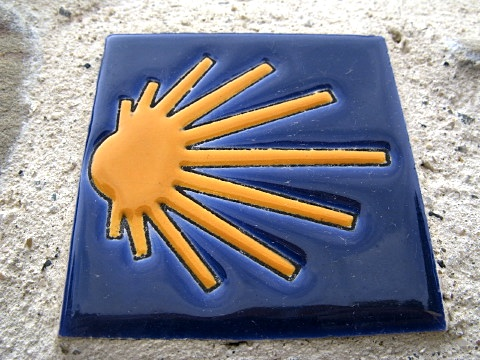 Tile marking the Way of Saint James
