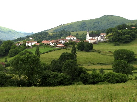 View towards the village of Ostabat