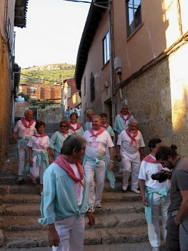 Villagers prepare for the celebrations
