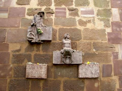 Wall detail at the Santa Maria de Jesus church near Navarrete