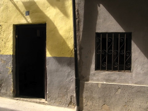 Window and door in Santo Domingo de la Calzada