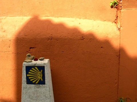 A marker on the Camino