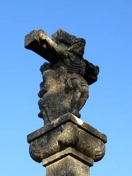 An old cross in O Cebreiro