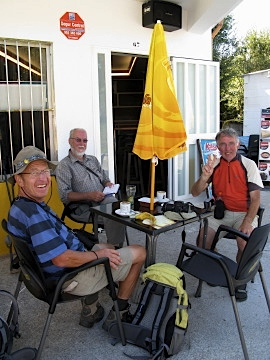 Familiar faces at the cafe by the sea