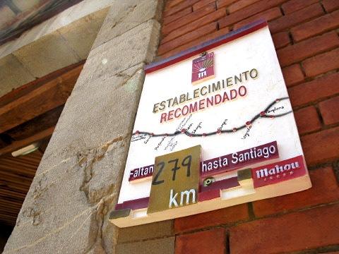 Only 279 km to go to Santiago de Compostela