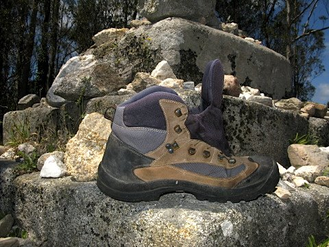 Someone had left a boot near the Ermita de las Nieves