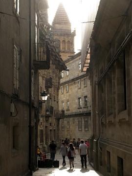 Street scene in Santiago de Compostela