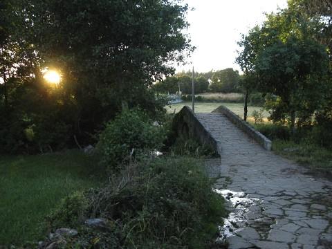 The Camino continues over a bridge over the Rio Seco