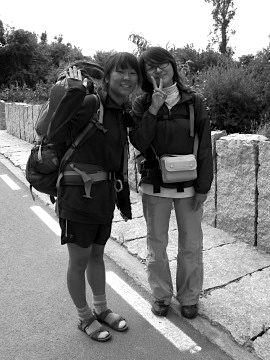 Two pilgrims from Korea