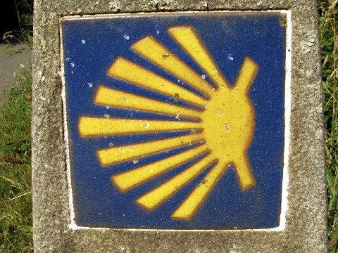 Way of Saint James scallop marker