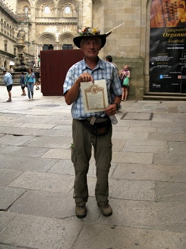 Alain gets his Compostela