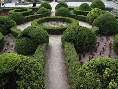 Ornate hedges in the centre of Santiago de Compostela